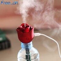 Mini rosa flor usb umidificador purificador de ar aroma difusor atomizador escritório casa