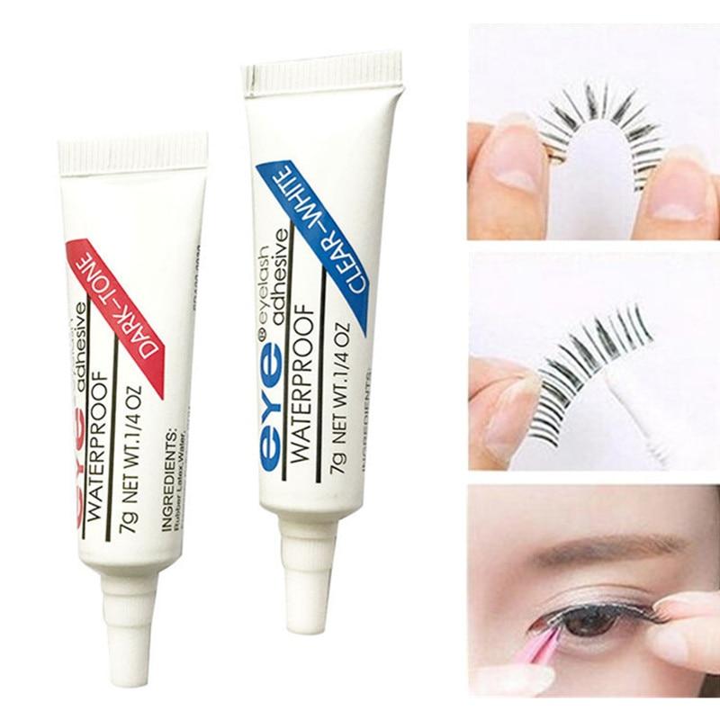 1 Pc False Eyelash Glue Strong Transparent White / Black Waterproof False Eyelash Glue Makeup Gel Eyelash Glue Beauty Tools
