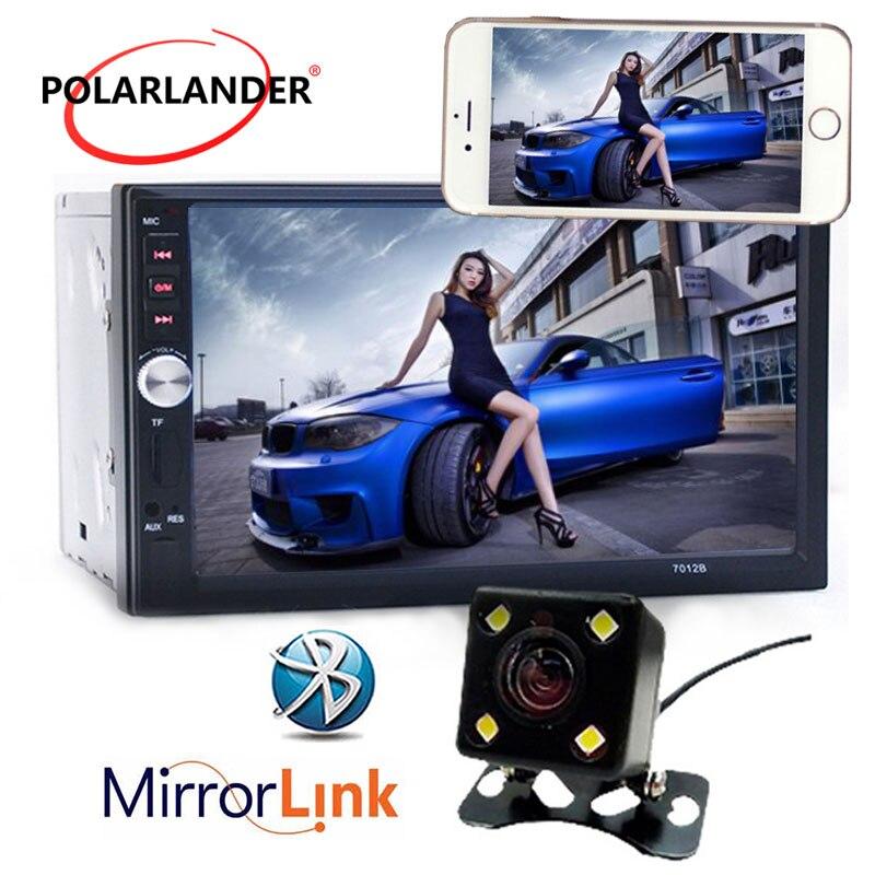 Miroir Link autoradio MP5 bluetooth audio stéréo lecteur écran tactile AUX en MP3 FM carte SD USB 2 Din support caméra de recul