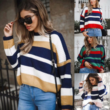 S-XL  womens coats o neck long sleeve cardigan sweater women casual leisure striped sweaters