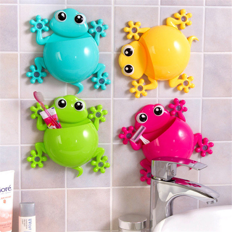 3Pcs/Set New Bathroom Accessories Cartoon Gecko Turtle Toothpaste Holder  Wall Sucker Hook Tooth Brush Holder Toothbrush Holder In Bathroom  Accessories Sets ...