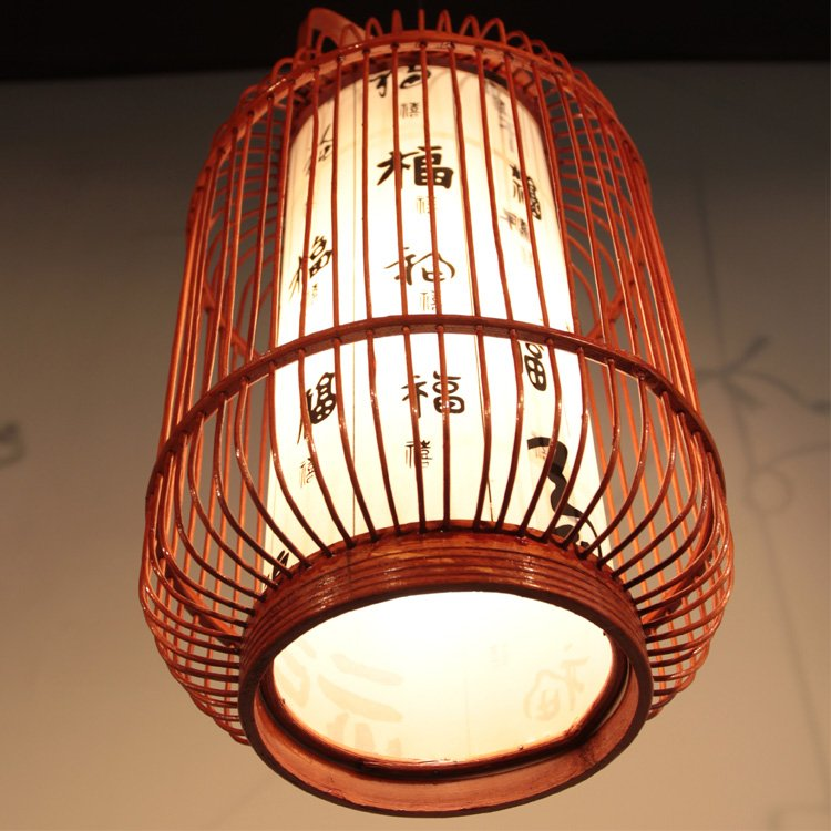 rattan chandelier decorative light modern Chinese style lamps and