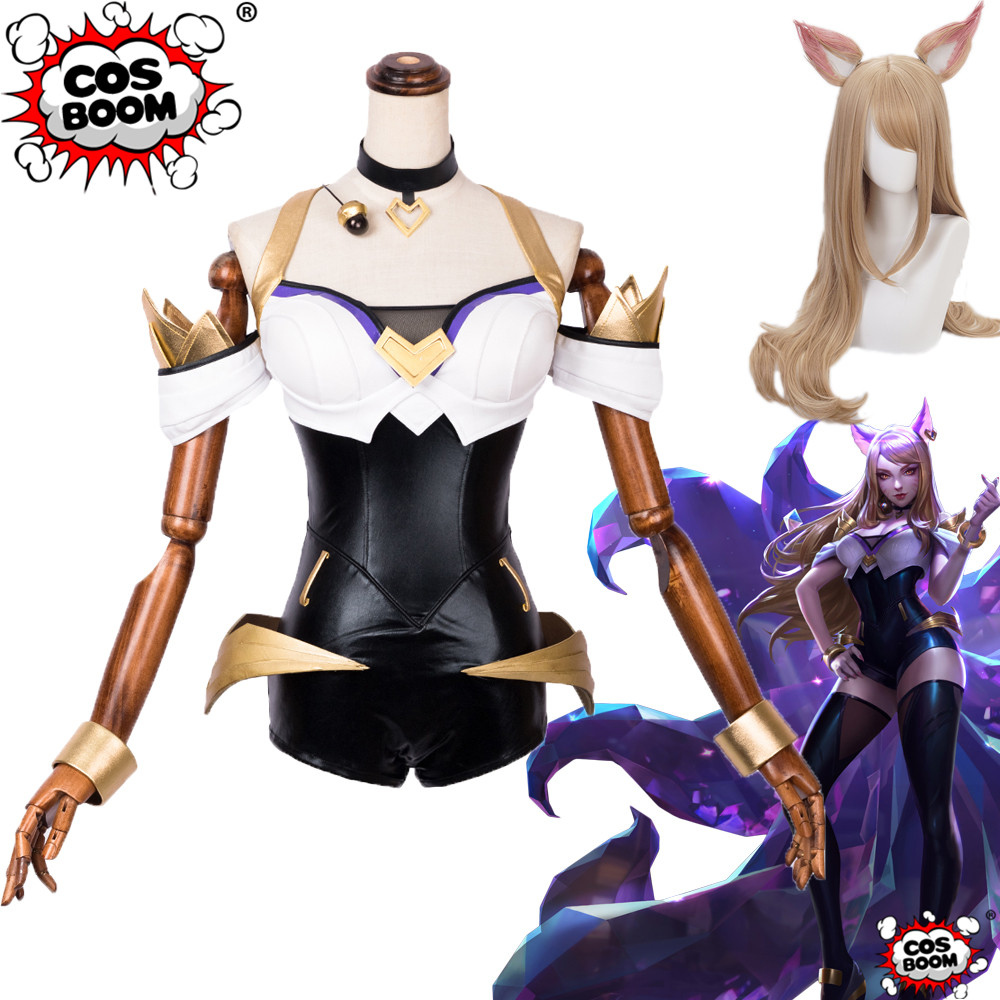 COSBOOM LOL KDA Ahri Cosplay Costume KDA Girl Group LOL Ahri Outfit Women Cosplay Costume Custom Made