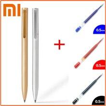 Оригинальные ручки Xiaomi Mijia металлические шариковые ручки PREMEC гладкая швейцарская заправка 0,5 мм японские черные, голубые чернила ручки для подписи