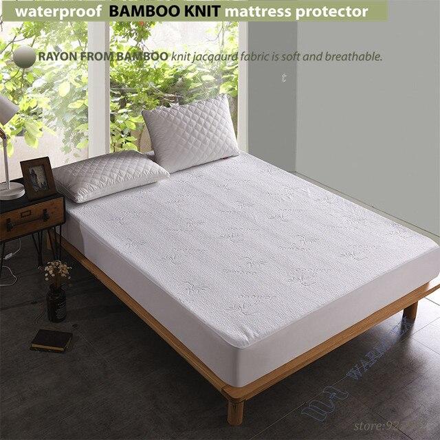 Para Kid cama individual tamaño impermeable de bambú tejido jacquard ...