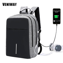 11e9fd5a02 VENIWAY XD Ville Conception Anti-vol Sac À Dos USB De Charge Hommes  Portables Sacs