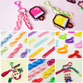 3d hama/perler/fuse beads Accessories For DIY handmade Keychain Catoon iron/pixel beads kids Education toys 50 pcs