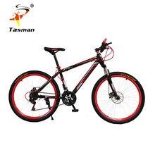 TASMAN 4Colors Men Women mountain bike 21 speed Gear shift 26 Inch Double Disc Brakes Bicycle Road Cycling Riding Outdoor Sports