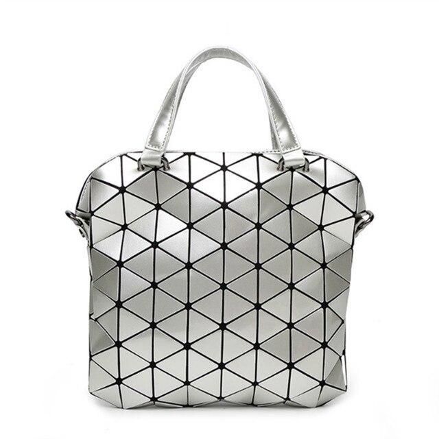 Sacs à Main Sac Géométrique Mat Sac à Bandoulière Féminin,Silver