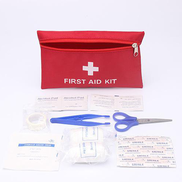 Mini First Aid Kit Red Emergency Kits With Bandage Band Plaster Survival In Medical