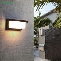 현대 led 벽 빛 알루미늄 야외 방수 벽 램프 정원 베란다 안뜰 aside 전면 도어 조명 빛 bl23x