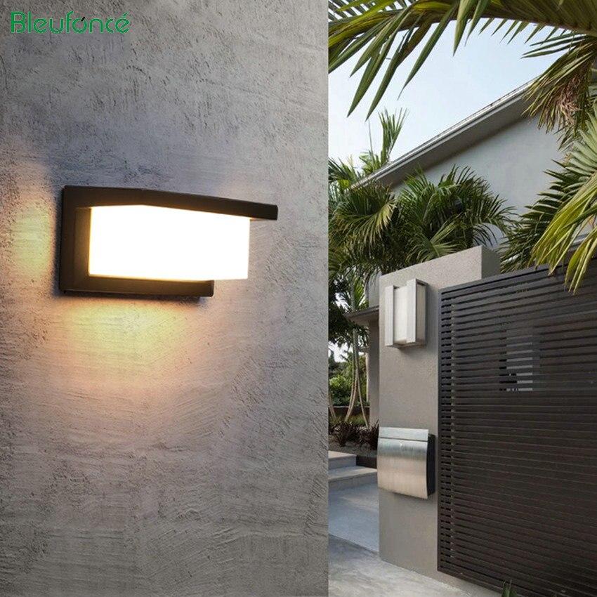 Современный светодиодный настенный светильник алюминиевый открытый водостойкий настенный светильник сад крыльца патио в сторону передне...