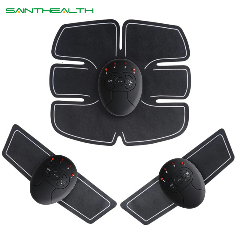 Abdominal machine electric muscle stimulator ABS ems Trainer fitness Weight loss Body slimming Massage with soft retail box