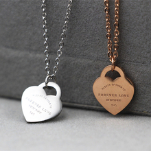 fashion jewelry Stainless steel with forever love heart Brand choker DIY necklace Christmas gift for women
