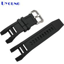83f9ef9dbfe Relógio pulseira de silicone à prova d  água 32 26mm invicta aço inoxidável  pulseira