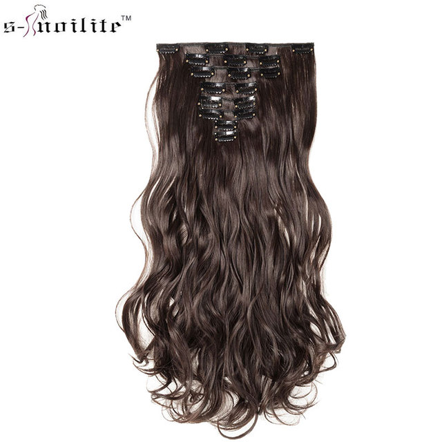 Snoilite 17 24 Lady Long Curly 18 Clip In Hair Extension Real