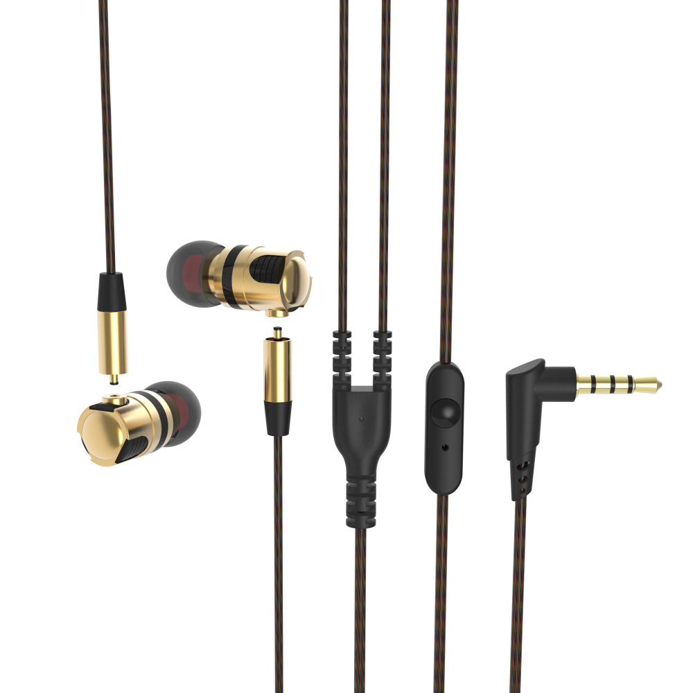 Original PLEXTONE Removable Metal HIFI Earphones X46M In-Ear Heavy Bass Sound Headset with Mic for Apple Mp3 Samsung 2 xiaomi