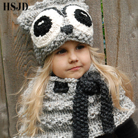 Cute Cartoon Kids Winter Hats Handmade Knitted 3 9 Years Baby Owl Hat Children Cap For Boys And Girls Fashion Photography props