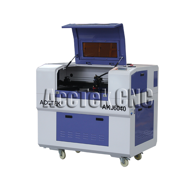 Hot sale wood laser cutting machine AKJ6040 mini laser engraver cnc