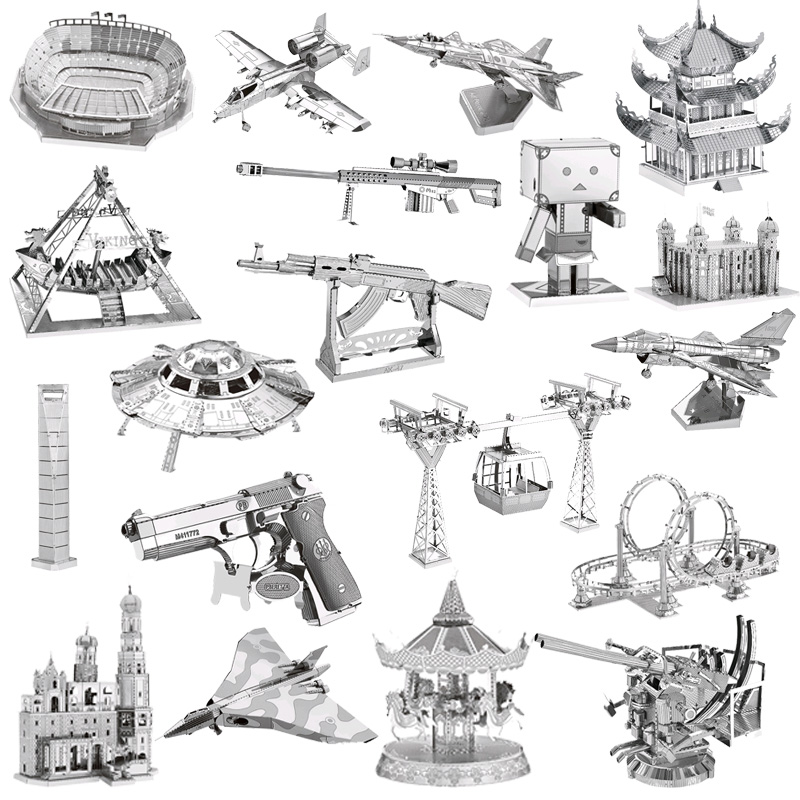 3D Metal Model Puzzles DIY Puzzle Jigsaw Kit For Adults Children Educational Collection Toys church new arrival gift kizhi church model metal collection diy assemble game toys for family children adult iq educational alloy item