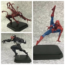 The Amazing Spider-Man Spider Man Marvel 17-21cm Anime Action Figures Model Toys Edward Brock Eddie Venom Figurine Carnage