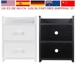 Универсальный прикроватный столик для ноутбука Высокое качество деревянный стол с 2 ящиками простой современный стиль спальня тумбочка