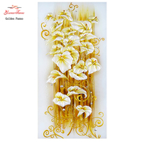 DIY 5D Diamond Embroidery 3D Diamond Painting Diamonds Mosaic Round Rhinestones Golden Lily Cross Stitch Christmas