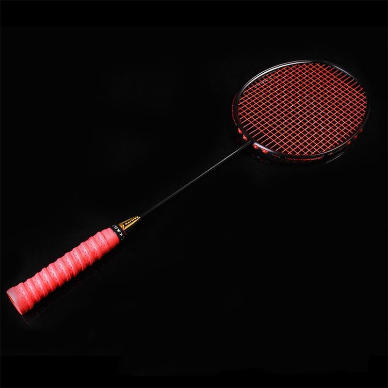 KAILITE 4U 80g Strung Badminton Racket Professional Carbon Badminton Racquet 30-32LBS Free Grips And Wristband