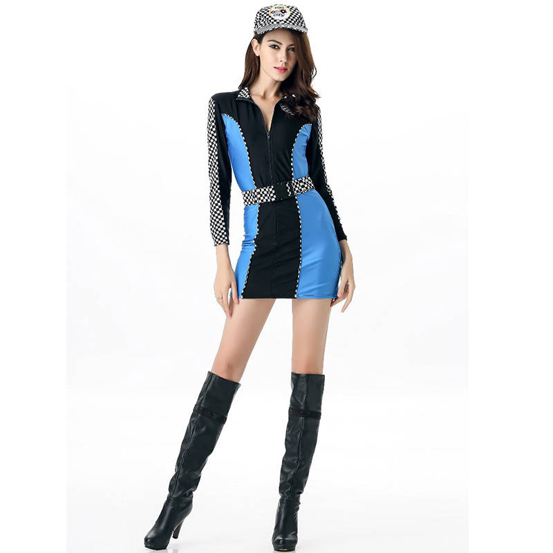Sexy Racer Costume Car Racing Uniforms Plus Size Fancy Dress Costumes For Women Carnaval Halloween Adult Role Playing Outfits Costumes & Accessories