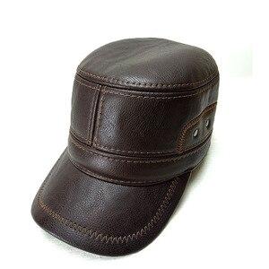 Image 2 - Boné de beisebol de fibonacci para homens bonés de beisebol de alta qualidade retalhos de couro ajustável flatcap chapéus de inverno snapback meia idade pai boné