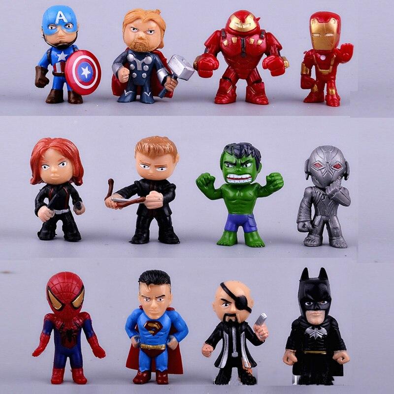 12pcs/set The Avengers Mini Toys