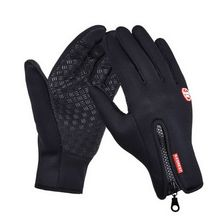 2018 Men And Women Outdoor Mountaineering Fleece Gloves Touch Screen Wind Warm Riding Gloves(China)