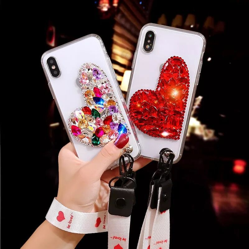 For <font><b>Samsung</b></font> S5 S6 S7 S8 <font><b>S9</b></font> S10 Plus Capa Glitter <font><b>Diamond</b></font> Luxury <font><b>Case</b></font> For <font><b>Samsung</b></font> Note 9 8 5 Slim Crystal Clear Love Soft Cover image