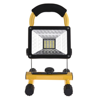 LAIDEYI 30W 24LED Outdoor Camping Lights Flood Light Spotlights Construction Site With USB to Charge Work Lamp No Battery