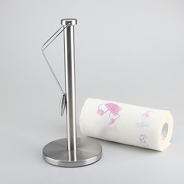 ORENBO Vertical Stand Paper Holders Kitchen Paper Towel Holder Roll Holder  Kitchen Paper Napkin Shelf Creative