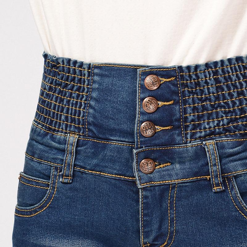 Yaz yeni şort qadınlar jeans düz bel cılız denim - Qadın geyimi - Fotoqrafiya 5