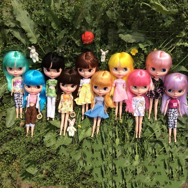 28cm 1/6 ICY Doll the same as Blyth doll hair with makeup and clothes shoes suitable for DIY make up Blyth цена и фото