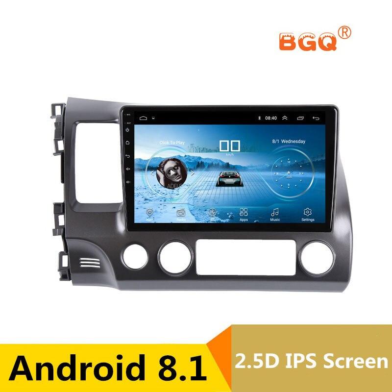 10.1 2.5D IPS screen Android 8.1 Car DVD Multimedia Player GPS For Honda Civic 2004 2009 audio car radio stereo navigator wifi