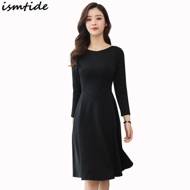 2018 New Spring Women Vintage 1950s Style Dresses Black Party Dress