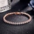 Top AAA Cubic Zirconia Bracelet Imitation Diamond Jewelry Gold Crystal Bracelet for Woman Charm Bracelets Pulseira new brtk15