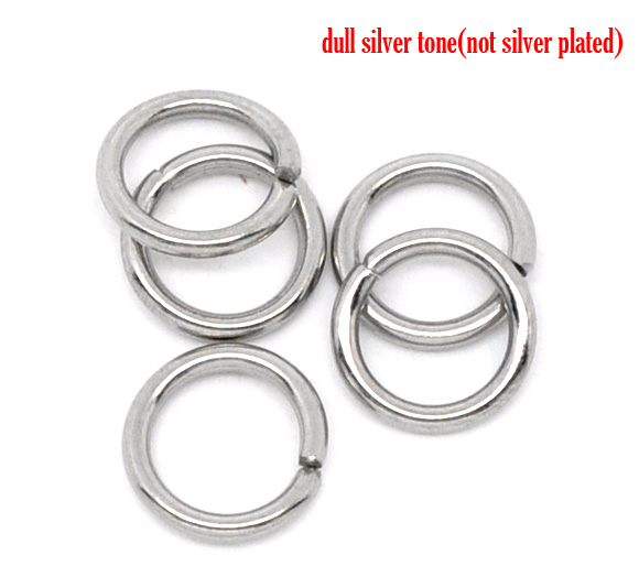 DoreenBeads Stainless Steel Open Jump Rings 7mm Dia. Findings, Sold Per Packet Of 50 2017 New