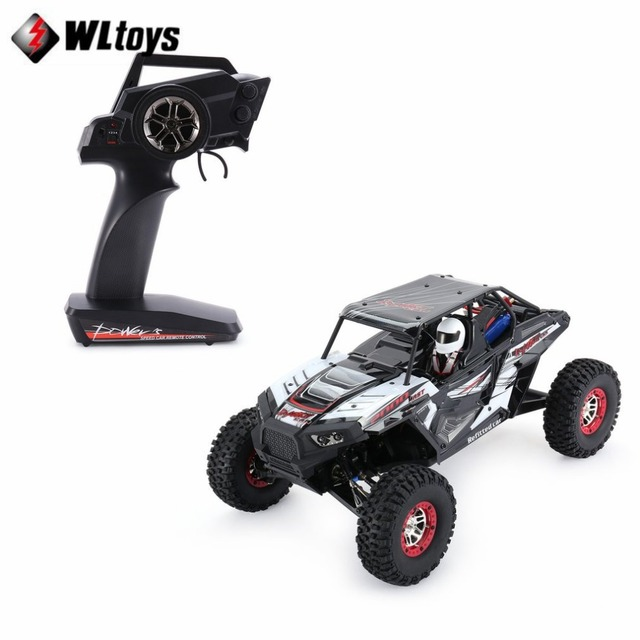 Wltoys 10428-B2 1/10 2.4G 4WD Electric Rock Climbing Crawler RC car Desert Truck Off-Road Buggy Vehicle with LED Light RTR fi