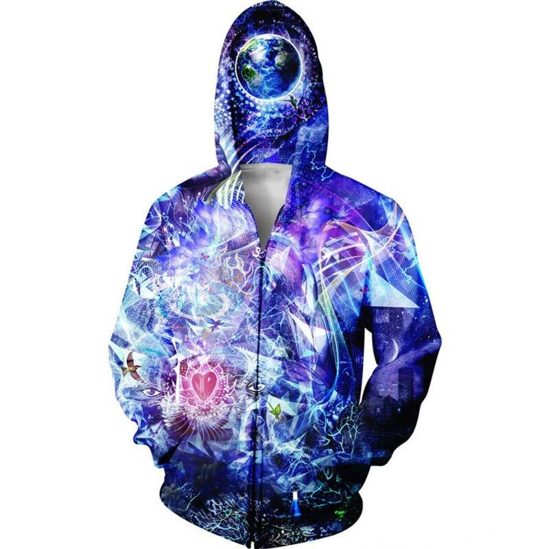 6ad9b53788 US $24.5 43% di SCONTO|Cappotto da uomo Abbigliamento Felpe Stampa 3D  Farfalle Trippy Giacca Streetwear Girocollo Harajuku Felpa Per Unisex Con  ...