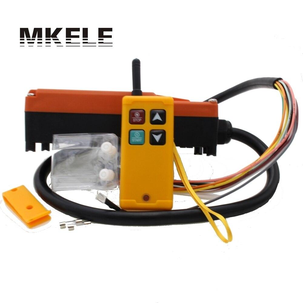 Промышленного Подъема Беспроводной Радио пульт дистанционного управления для кран 1 приемник + 1 передатчик AC220V 110 В 380 В 36 В DC12V 24 В