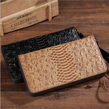 New Men's handbag men purse Leather wallets crocodile grain men's wallet