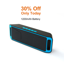Mini Wireless Bluetooth Speaker 1200 MAh Battery Double Horn Subwoofer Portable Speakers   Outdoor Support TF Card FM Radio outdoor high power wireless bluetooth speaker portable charging cannon bass subwoofer for dust proof tf card fm radio speakers
