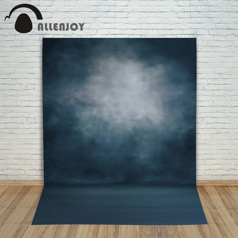Allenjoy photo backdrops Dark blue pure color pastel professional Photophone for a photo shoot backgrounds for photo studio napapijri guji check dark blue