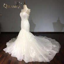 Vestidos De Noiva Custom Made Bridal Gowns Ivory Lace Appliques Luxury Mermaid Wedding Dresses 2018 Aliexpress