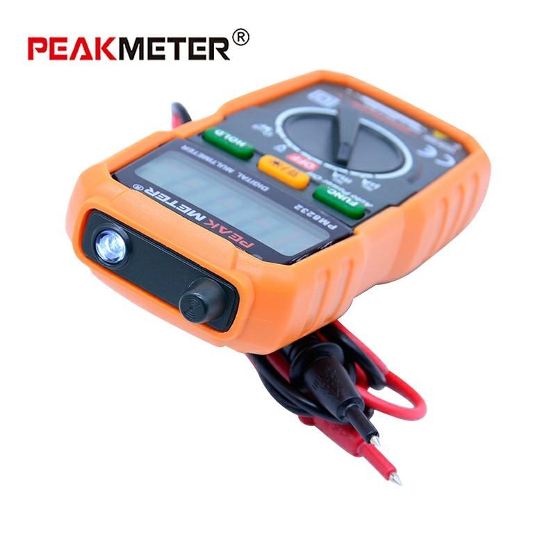 Nekontaktinis mini skaitmeninis multimetras PEAKMETER MS8232 DC - Matavimo prietaisai - Nuotrauka 4