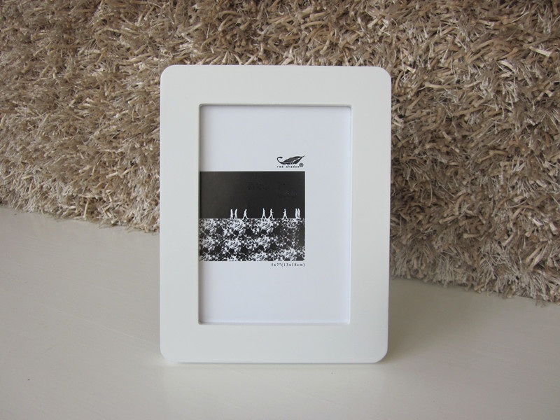 white fashion mdf picture frame for promotion gifts hot sales 5x7